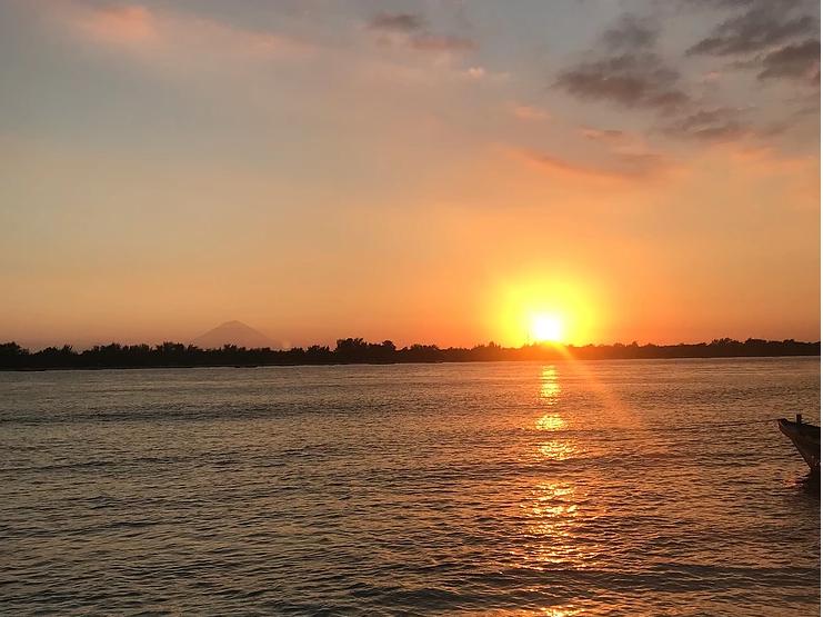 solnedgang på Gili